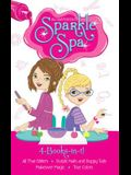 Sparkle Spa 4-Books-In-1!: All That Glitters; Purple Nails and Puppy Tails; Makeover Magic; True Colors