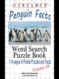 Circle It, Penguin Facts, Word Search, Puzzle Book