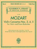 Violin Concertos Nos. 3, 4, 5: Schirmer Library of Classics Volume 2055 for Violin and Piano Red