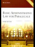 Basic Administrative Law for Paralegals [With Workbook on CDROM]