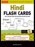 Hindi Flash Cards Kit: Learn 1,500 Basic Hindi Words and Phrases Quickly and Easily! [With CDROM]