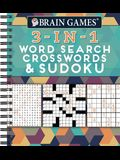 Brain Games 3-In-1: Word Search, Crosswords & Sudoku