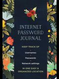 Internet Password Journal - Modern Floral