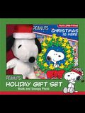 Peanuts: Christmas Is Here! Holiday Gift Set: Book and Snoopy Plush