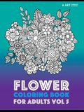 Flower Coloring Book For Adults Vol 5