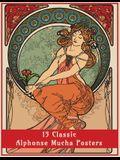 15 Classic Alphonse Mucha Posters: An Art Nouveau Coloring Book