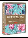Japanese Cranes Note Cards: 12 Blank Note Cards & Envelopes (6 X 4 Inch Cards in a Box)