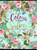 Colora e prega: Salmi: Un libro da colorare per adulti cristiano: Un libro religioso unico con 45 versetti biblici da colorare