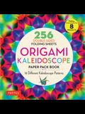 Origami Kaleidoscope Paper Pack Book: 256 Double-Sided Folding Sheets - 16 Different Kaleidoscope Patterns (Instructions for 8 Projects)