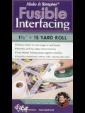 Make It Simpler(r) Fusible Interfacing: 1 1/2 X 15 Yard Roll