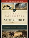 NIV, Cultural Backgrounds Study Bible, Large Print, Hardcover, Red Letter Edition: Bringing to Life the Ancient World of Scripture