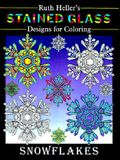 Stained Glass Designs for Coloring Snowflakes