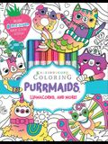 Kaleidoscope Coloring: Purrmaids, Llamacorns, and More! [With Marker]