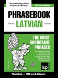 English-Latvian phrasebook & 1500-word dictionary