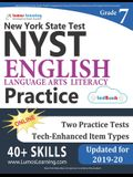 New York State Test Prep: Grade 7 English Language Arts Literacy (Ela) Practice Workbook and Full-Length Online Assessments: Nyst Study Guide