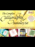 The Complete Calligraphy & Stationary Set [With 2 Books and Bottle of Black Ink/ Embossing Tool/ Paper/ Envelo and Double-Nibbed Calligraphy