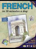 French in 10 Minutes a Day: Language Course for Beginning and Advanced Study. Includes Workbook, Flash Cards, Sticky Labels, Menu Guide, Software,
