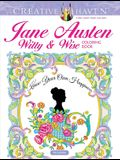 Creative Haven Jane Austen Witty & Wise Coloring Book (Creative Haven Coloring Books)