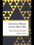 Autonomy, Refusal, and the Black Bloc: Positioning Class Analysis in Critical and Radical Theory