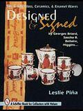 Designed & Signed: '50s & '60s Glass, Ceramics & Enamel Wares by Georges Briard, Sascha Brastoff, Marc Bellaire, Higgins...
