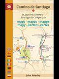 Camino de Santiago Maps - Mapas - Mappe - Mapy - Karten - Cartes: St. Jean Pied de Port - Santiago de Compostela