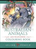 Australian Animals and Wildflowers Colouring Book