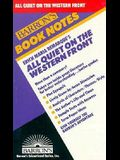 Erich Maria Remarque's: All Quiet on the Western Front (Barron's Book Notes)