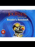 Journeys: Common Core Reader's Notebook Consumable Volume 1 Grade K