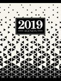 Agenda 2019: 19x23cm: Agenda 2019 semainier: triangles noir et blanc 5685