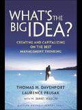 What's the Big Idea: Creating and Capitalizing on the Best Management Thinking