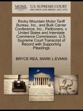 Rocky Mountain Motor Tariff Bureau, Inc., and Bulk Carrier Conference, Inc., Petitioners, V. United States and Interstate Commerce Commission. U.S. Su