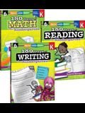 180 Days of Reading, Writing and Math for Kindergarten 3-Book Set