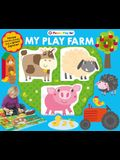 Puzzle Play Set: My Play Farm: Three Chunky Books and a Giant Jigsaw Puzzle! [With Three Chunky Mini Books and 9-Piece Jigsaw Puzzle]