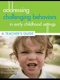 Addressing Challenging Behaviors in Early Childhood Settings: A Teacher's Guide [With CDROM]