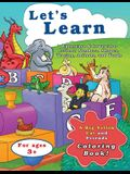 Let's Learn Uppercase & Lowercase Letters, Numbers, Shapes, Tracing, Animals, and Words