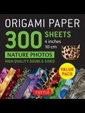 Origami Paper 300 Sheets Nature Photo Patterns 4 (10 CM): Tuttle Origami Paper: High-Quality Double-Sided Origami Sheets Printed with 12 Different De