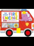 The Speedy Fire Engine: 2-In-1 Storybook with Pull-Back Wheels