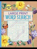 Large Print Floral Word Search