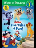 World of Reading: Disney Junior Five Tales of Fun! (Level 1 Reader Bindup)
