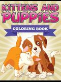 Kittens and Puppies Coloring Book