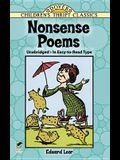Nonsense Poems: History, Theory, and Practice