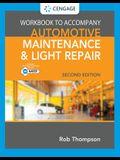 Student Workbook for Automotive Maintenance & Light Repair