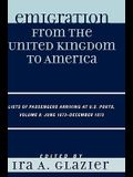 Emigration from the United Kingdom to America: Lists of Passengers Arriving at U.S. Ports, Volume 8: June 1873 - December 1873