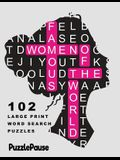 Famous Women of the World: 102 Large Print Word Search Puzzles