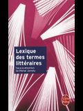Lexique Des Termes Litteraires