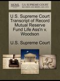 U.S. Supreme Court Transcript of Record Mutual Reserve Fund Life Ass'n V. Woodson