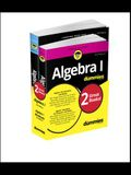 Algebra I for Dummies Book + Workbook Bundle