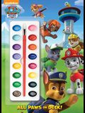 All Paws on Deck! (Paw Patrol) (Deluxe Paint Box Book)