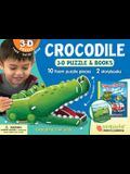 Crocodile: Wildlife 3D Puzzle and Books [With Book(s)]