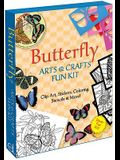 Butterfly Arts & Crafts Fun Kit [With Bonus CDROM and Over 100 Stickers Including Many That Glitter and 11 X 16 1/2 Color Your Ow